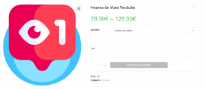 acheter heures vues youtube