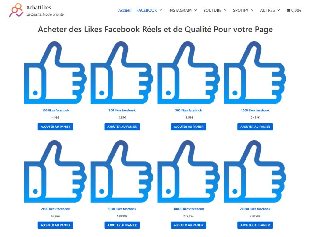 meilleur site acheter j aime facebook
