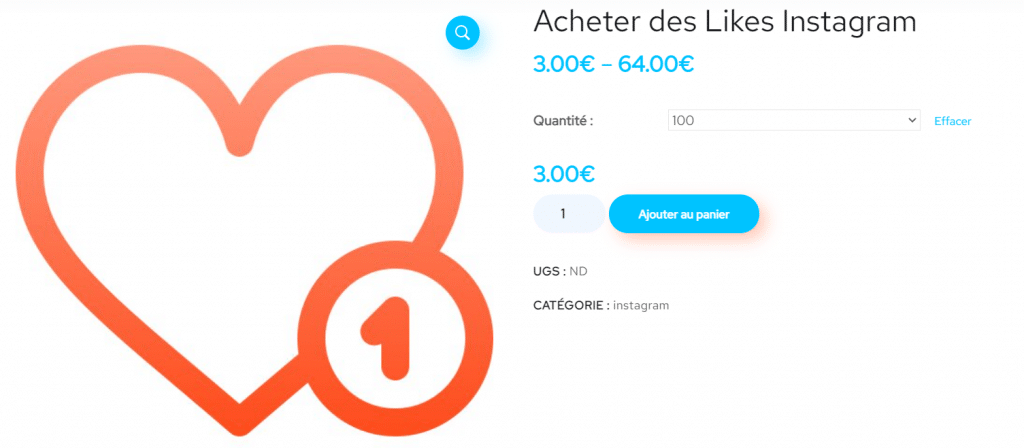 acheter likes instagram pas cher