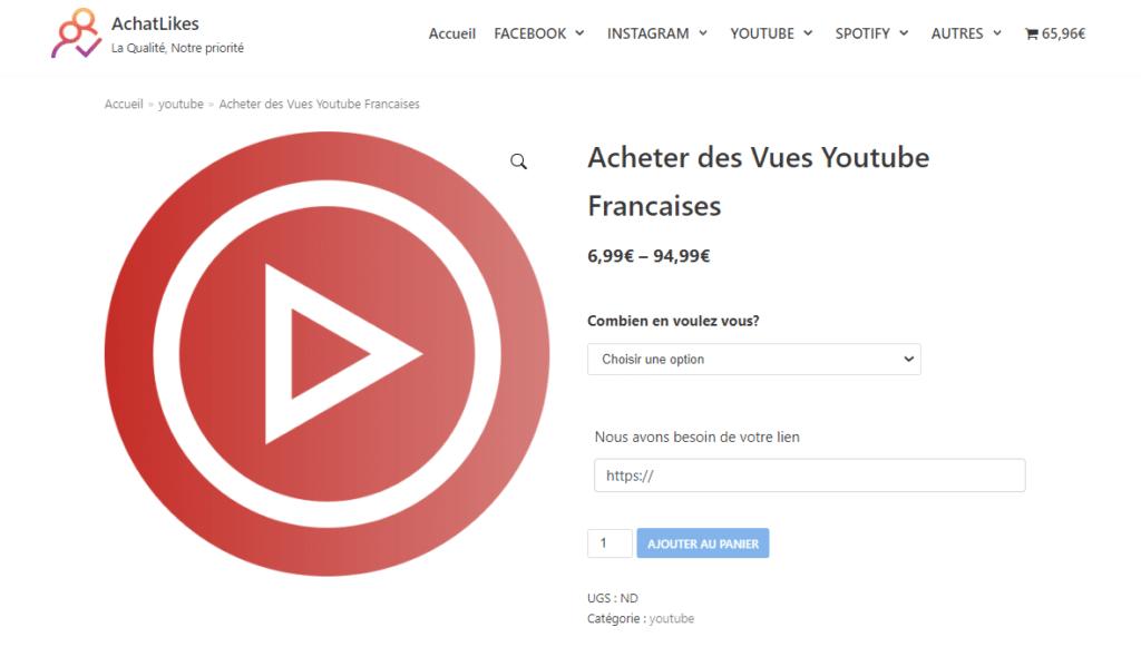 meilleur site acheter vues youtube francaises