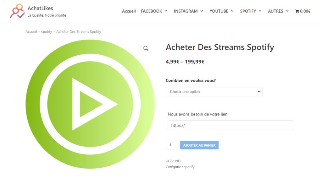 Meilleurs sites pour acheter des streams Spotify